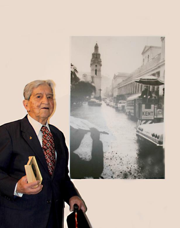 Augusto de la Rosa en la exposición Ciudades en Tránsito