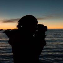 fotografiando el atardecer